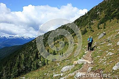 Man Hiking at Piccola Summit