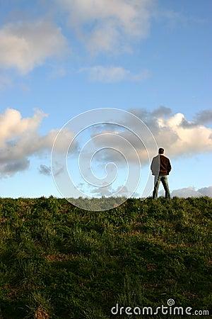 Man on hill