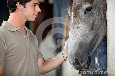 Man with his horse
