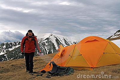 Man and his tent