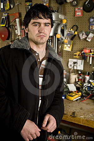 Man in his workshop