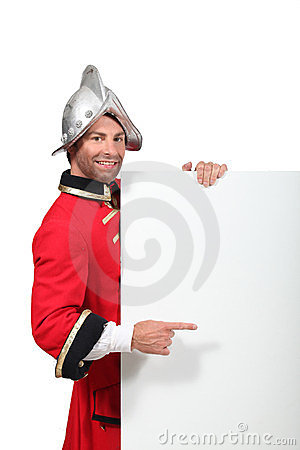 Man in an historical soldier s uniform