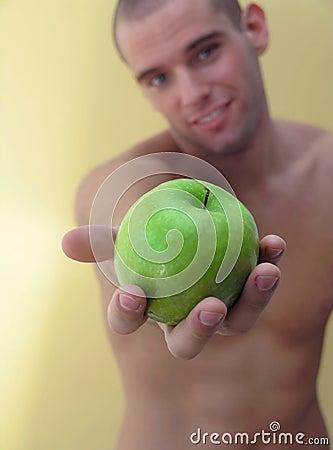 Free Man Hold Apple Stock Image - 2605951