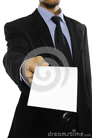 Free Man Hold Blank Envelope Stock Photography - 27118612