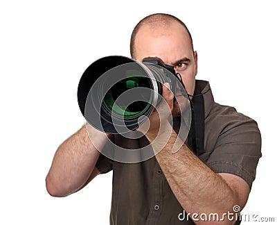Man hold camera