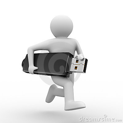 Free Man Hold Usb Flash Stock Photography - 13979612