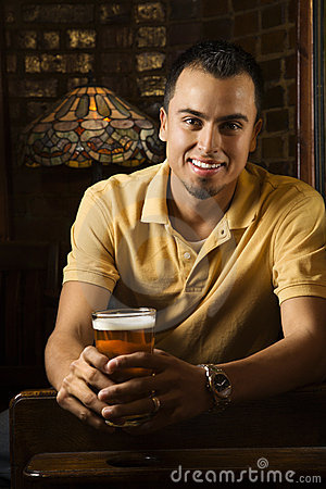 Free Man Holding Beer. Stock Image - 2037231