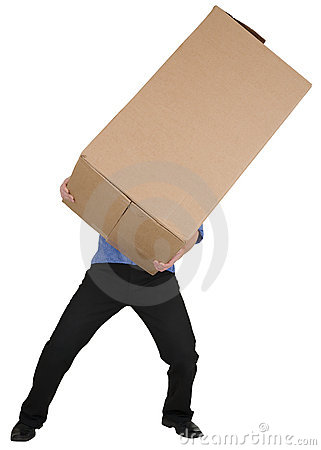 Man Holding Big Cardboard Box Stock Photos, Images, & Pictures ...
