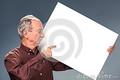 Man holding billboard