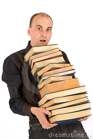 Man holding books
