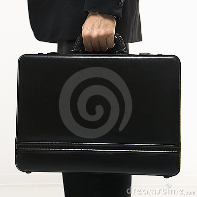 Man holding briefcase