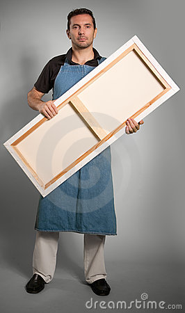 Man Holding Canvas Royalty Free Stock Image - Image: 24275326