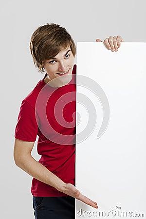 Man holding a cardboard