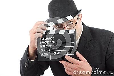 Man holding clapboard