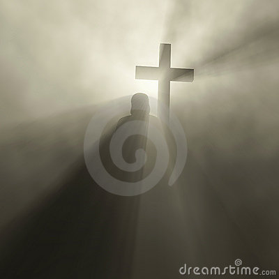 Free Man Holding Cross Royalty Free Stock Photos - 4617018