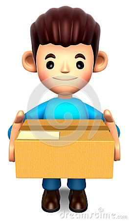 Man holding the delivery box