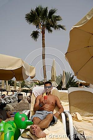 Man holding drink