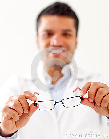 Man holding glasses