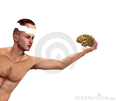 Man Holding His Mind