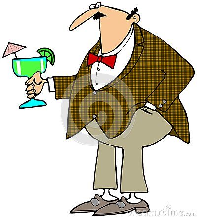 Man holding a Margarita
