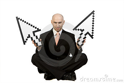 Man Holding Mouse Pointers