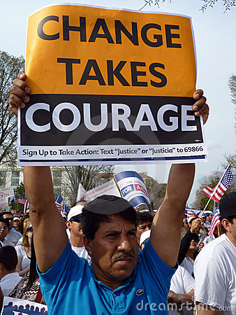 Free Man Holding Protest Sign Royalty Free Stock Photography - 13546307