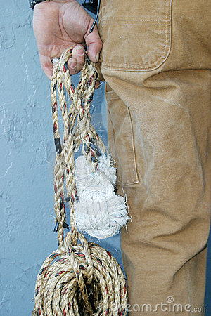 Man holding rope