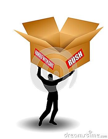 Man Holding Shipping Box