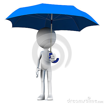 Man holding umbrella