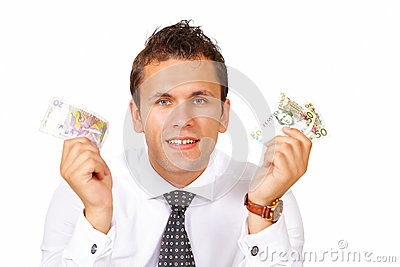 Man holds money