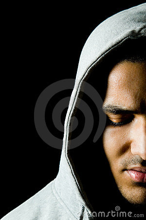 Man with hood