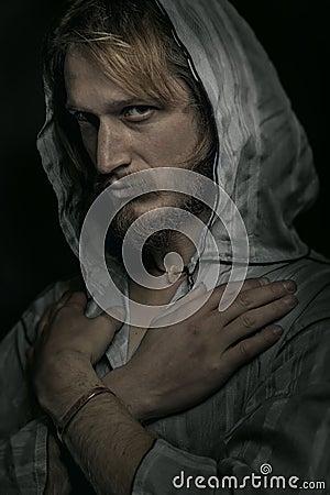 Man In The Hood Portrait