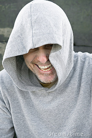 Man in in hooded top