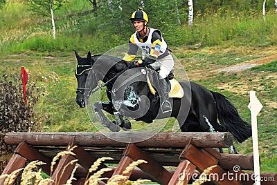 Black horses jumping - photo#23