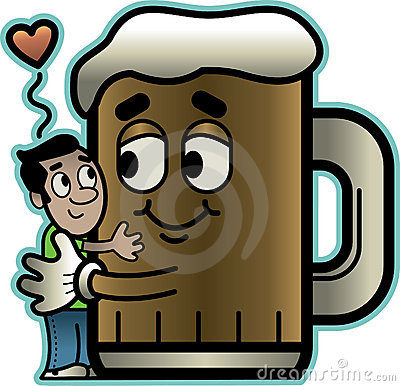 Man Hugs Beer