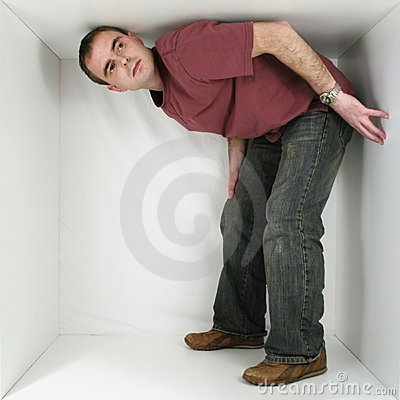 Free Man In A Box Royalty Free Stock Photo - 1550035