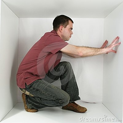 Free Man In A Box Royalty Free Stock Photo - 1550075