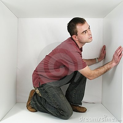 Free Man In A Box Royalty Free Stock Photography - 1550077