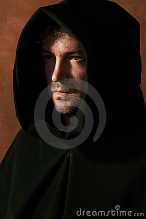 Free Man In A Medieval Hood Royalty Free Stock Photography - 16722447