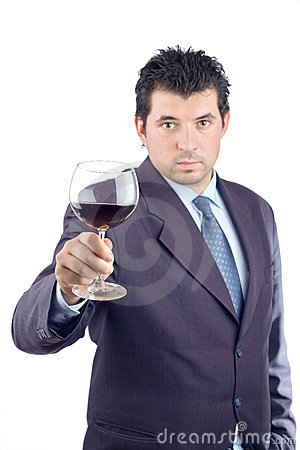 Free Man In A Suit Tasting Wine Royalty Free Stock Photos - 1790188
