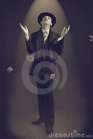 Free Man In A Top Hat Stock Photography - 12907162