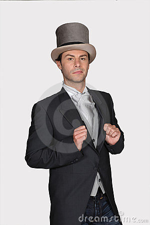 Free Man In A Top Hat Royalty Free Stock Photography - 23862147