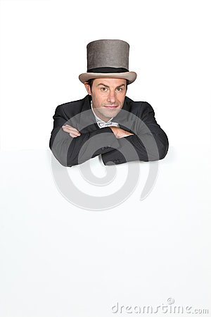Free Man In A Top Hat Stock Photos - 24731133