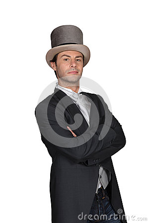 Free Man In A Top Hat Royalty Free Stock Images - 35738439