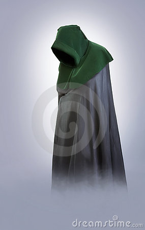Free Man In An Medieval Hood And Cloak In The Fog Royalty Free Stock Photo - 15228595