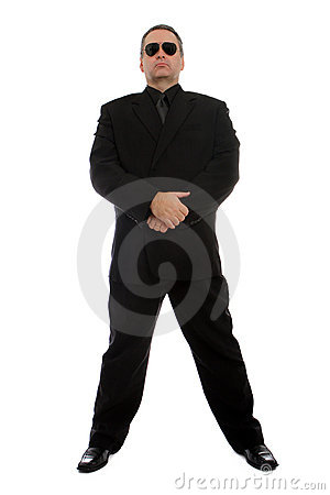 Free Man In Black Suit Royalty Free Stock Photography - 22191717