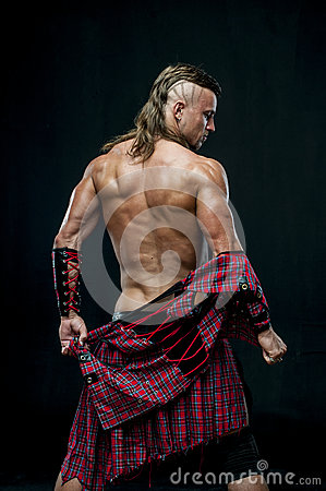 Free Man In Kilt Stock Image - 32285791