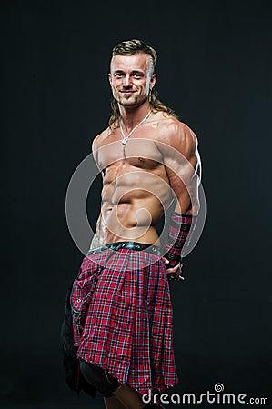 Free Man In Kilt Stock Photography - 32285792