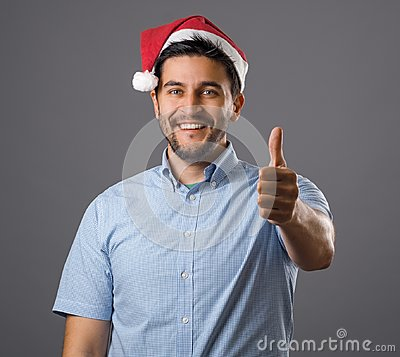 Free Man In Red Hat Stock Photography - 105589122
