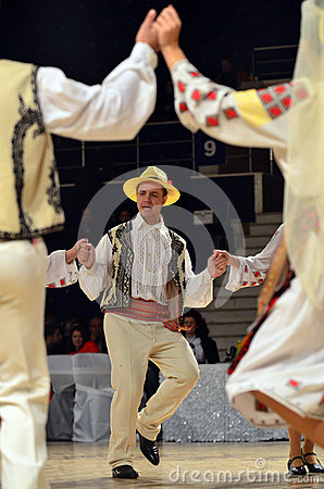 Free Man In Romanian Traditional Outfit Stock Photography - 79389462